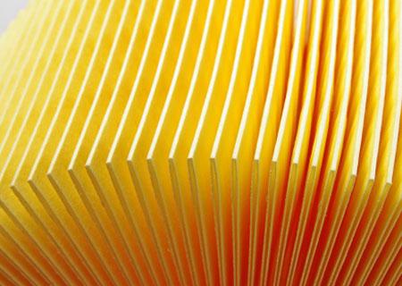Papel filtrante de aire